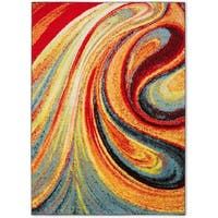 Porch & Den Hampden Crowther 211 Multi-colored Swirls Area Rug - 3'3 x 4'7