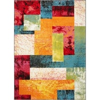 Porch & Den Hampden Poole Multi-colored Area Rug - 3'3 x 4'3