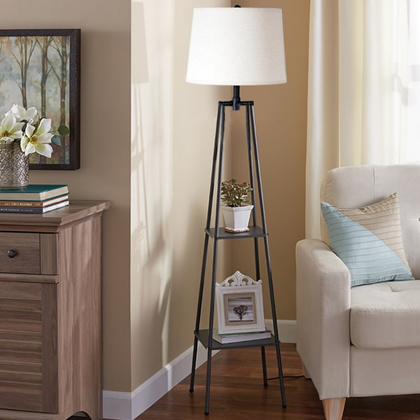 Carbon Loft Gallatin Lighting 3-way 58-inch Distressed Iron Etagere Floor Lamp