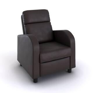 Carson Carrington Hagfors Brown Faux Leather Recliner