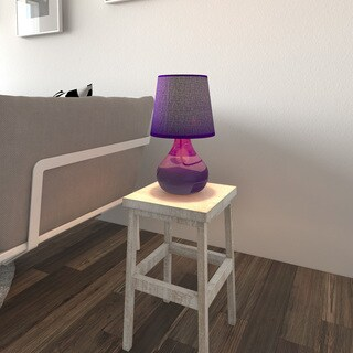 Porch & Den North Loop Adrich Purple Glass Table Lamp