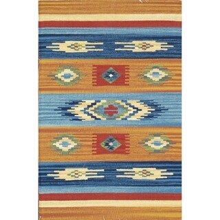 Anatolian Collection Multicolor Cotton Handwoven Area Rug (9'0 x 12'0)