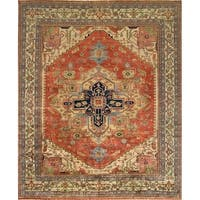 "Serapi Collection Hand-Knotted Rust/Ivory Wool Rug (8' 1"" X 9'11"")"