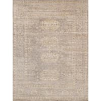 """Pasargad Oushak Hand-Knotted Bamboo Silk Area Rug (9' 8"""" X 13'10"""")"""