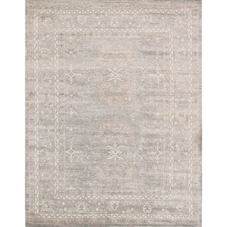 Pasargad Grey/Silver Rayon From Bamboo Hand-knotted Oushak Rug (9'11 x 13'9)|https://ak1.ostkcdn.com/images/products/18534186/P24641930.jpg?_ostk_perf_=percv&impolicy=medium