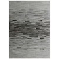 "Silver and Hand-Loomed Cowhide Area Rug (7' 9"" X 9' 9"")"