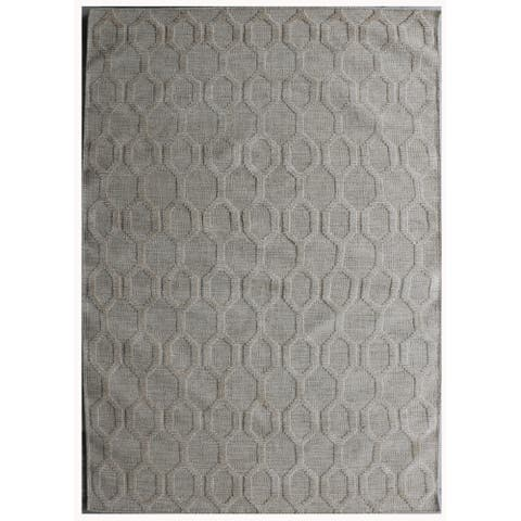 Pasargad Home Transitional Collection Hand-Woven Silk & Wool Rug