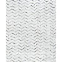 "Pasargad Hand-Loomed Silver Cowhide Rug (8' 9"" X 11' 9"")"