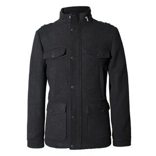 Seduka Men's Jacket - Contemporary, Casual, Sportswear Military Style Peacoat