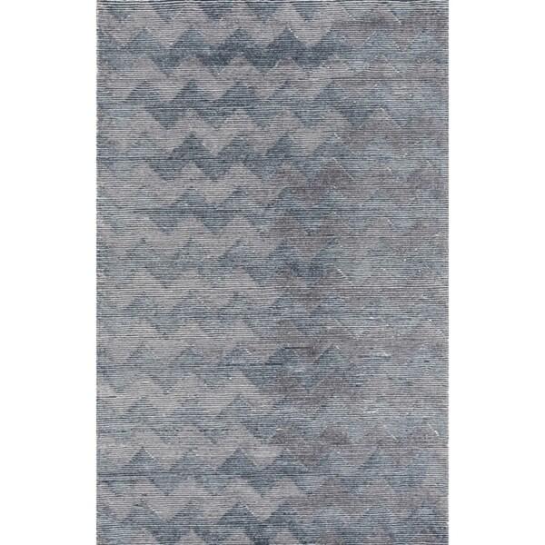 Amadeus Grey Blue White Area Rug - 3'3 x 5'3