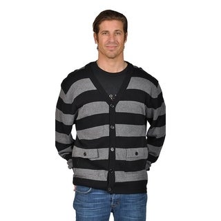 V-Neck Cardigan Button Closure Sweater with 2 Front Pocket and Shoulder Badge.