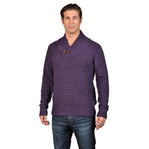 V-Neck Cardigan Button Closure Sweater with 2 Front Pocket and Shoulder Badge Black Grey (2X)