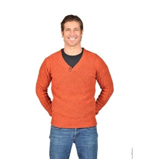 Men's NAIF Shawl Collar Cardigan Sweater (Small, Charcoal)