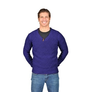 Men's NAIF Shawl Collar Cardigan Sweater (Medium, Black)