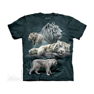 THE MOUNTAIN WHITE TIGER COLLAGE YOUTH T-SHIRT