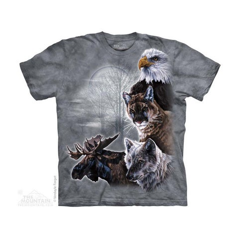 THE MOUNTAIN NORTH AMERICAN COLLAGE YOUTH T-SHIRT