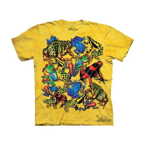 THE MOUNTAIN FROG COLLAGE YOUTH T-SHIRT