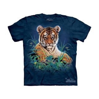 THE MOUNTAIN TIGER CUB IN GRASS YOUTH T-SHIRT