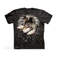 THE MOUNTAIN WOLF IN DYE PAW YOUTH T-SHIRT
