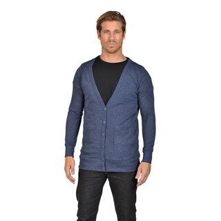 Men's NAIF Shawl Collar Cardigan Sweater Navy