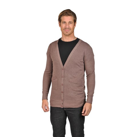 Men's NAIF Shawl Collar Cardigan Sweater Mocha