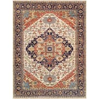 """Pasargad Serapi Collection Hand-Knotted Wool Area Rug (4' 0"""" X 5'10"""")"""
