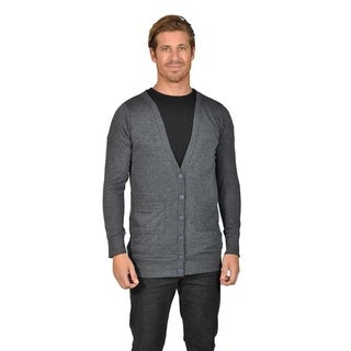 Men's NAIF Shawl Collar Cardigan Sweater Charcoal