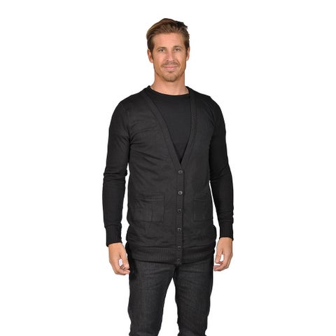 Men's NAIF Shawl Collar Cardigan Sweater Black