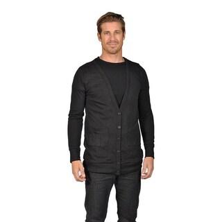 Men's NAIF Shawl Collar Cardigan Sweater Black