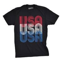 Mens USA USA USA Funny T shirts Red White Blue Retro Designs Cool Graphic T shirt