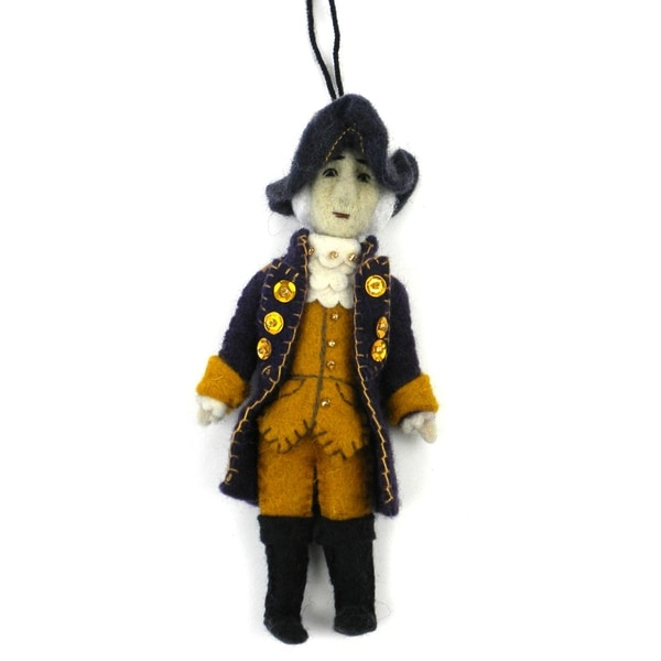 Handmade George Washington Felt Ornament (Kyrgyzstan)