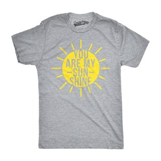 Mens You Are My Sunshine T shirts Funny Summer Tee Cute Adorable Novelty Graphic T shirt