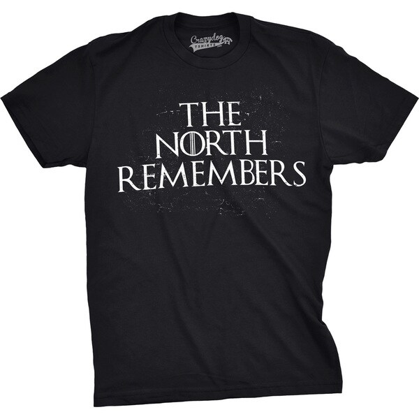3e8d3091 Shop Mens The North Remembers Funny T shirts Cool Winter Christmas Novelty  T shirt - Free Shipping On Orders Over $45 - Overstock - 18534506