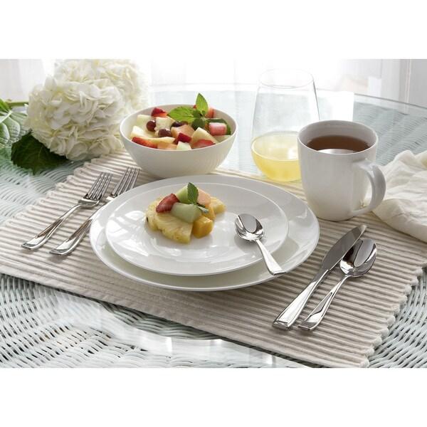 Oneida Moda Coupe Porcelain 16 or 32 piece Dinnerware Set  sc 1 st  Overstock.com & Oneida Moda Coupe Porcelain 16 or 32 piece Dinnerware Set - Free ...