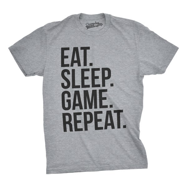 Shop Mens Eat Sleep Game Repeat Funny Shirts Nerdy Gamer ...