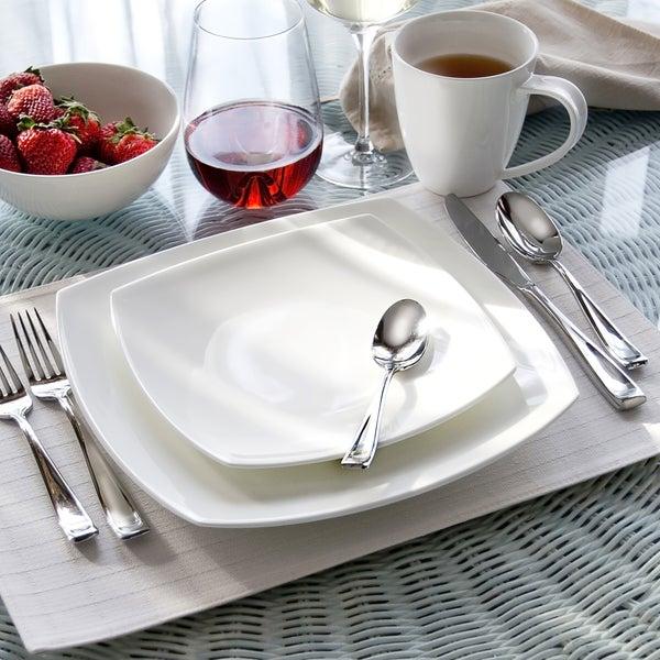 Oneida Moda Porcelain 16 or 32 piece Dinnerware Set & Shop Oneida Moda Porcelain 16 or 32 piece Dinnerware Set - On Sale ...
