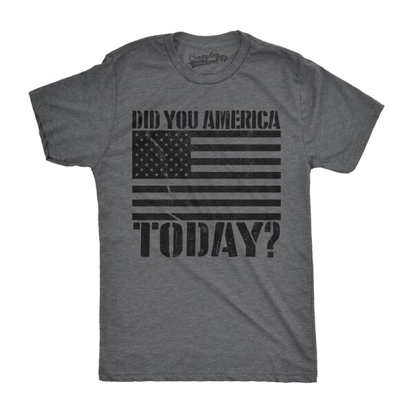 6bb06e6829 Shop Mens Did You America Today? Funny Shirts Hilarious Novelty Tees  Vintage USA America T shirt - On Sale - Free Shipping On Orders Over $45 -  Overstock - ...