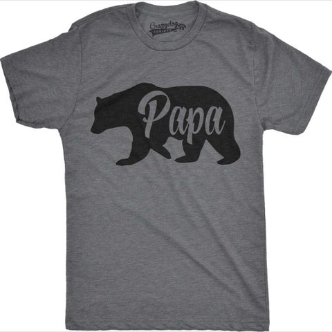 Mens Bear Papa Funny Shirts for Dads Gift Idea Novelty Tees Family T shirt
