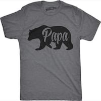 Mens Bear Papa Funny Shirts for Dads Gift Idea Novelty Tees Family T shirt