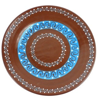 Handmade Round Plate - Chocolate (Mexico)