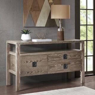 Ink+Ivy Oaktown Aged Oak Solid Oak and Wood Buffet With Oak Veneer Top