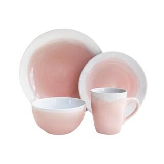 Oasis Pink/White 16PC Dinnerware Set