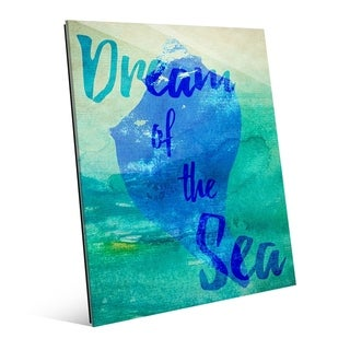 Dream of the Sea with Shell in Blue Wall Art Print on Acrylic