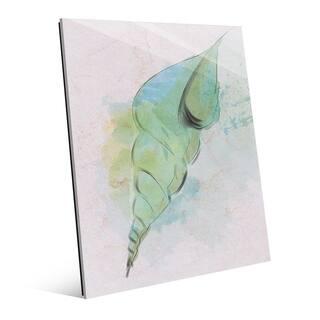 Overcast Shell Watercolor Wall Art Print on Acrylic