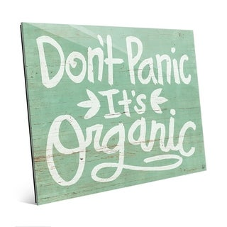 Don't Panic It's Organic on Green Wall Art Print on Acrylic