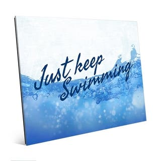 Just Keep Swimming - Ocean View Wall Art Print on Acrylic