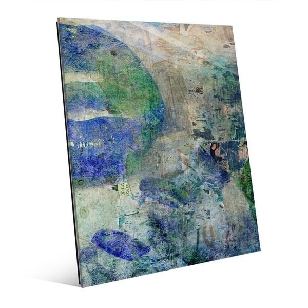 Blue Lips & Nails Abstract Woman Wall Art Print on Acrylic
