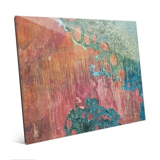 Red Wash Industrial Abstract Wall Art Print on Acrylic