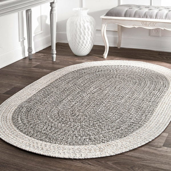 Shop Nuloom Contemporary Hand Braided Solid Border Indoor