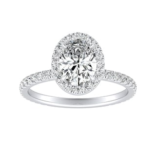 Auriya 18k Gold 1 1 10ctw Oval Cut Halo Diamond Engagement Ring